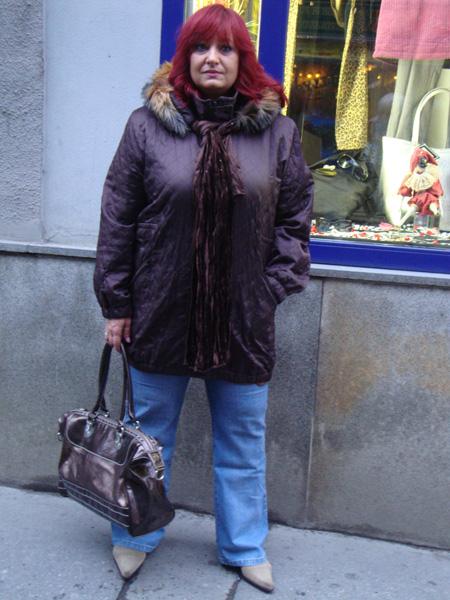 Zimn� bunda s ko��kem - hn�d�