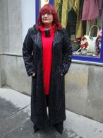 Jarní dlouhý kabát - černý