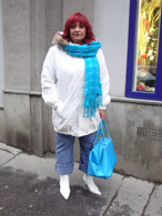 Zimní bunda bílá