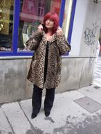 Zimní kabátek, chlup leopard