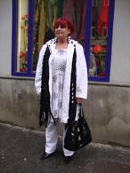 Bílý kabátek s kapucou - dalmatin