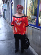Sexy červené triko s obrázkem